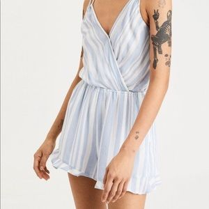 Blue And White stripe romper from American eagle